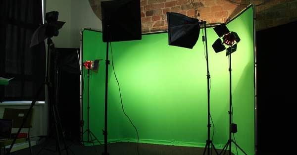 Unser neuer Green-Screen in Aktion